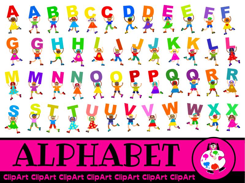 Kids Alphabet Clip Art Mega Pack.