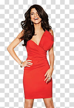 Selena Gomez Latinas shoot transparent background PNG.