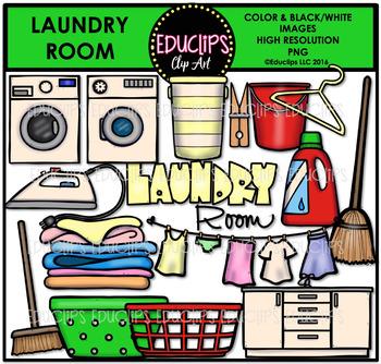 Parts of a House~Laundry Room Clip Art Bundle {Educlips Clipart}.