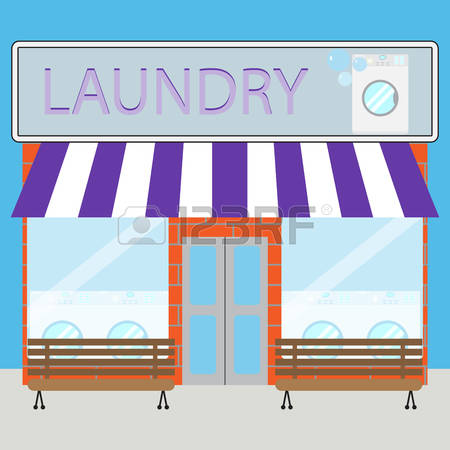 Laundry Shop Clipart.