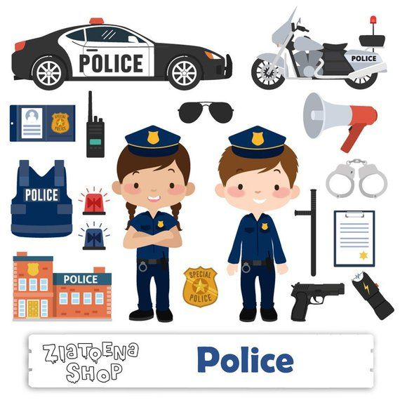 Little Police clip art Police Clipart Police Graphics.