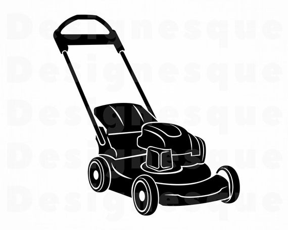 Lawn Mower #4 SVG, Lawn Mower SVG, Landscaping Svg, Lawn Mower Clipart,  Lawn Mower Files for Cricut, Cut Files For Silhouette, Dxf, Png Eps.