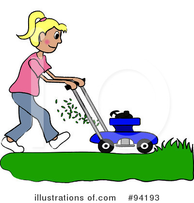 Lawn Mowing Clipart #94199.