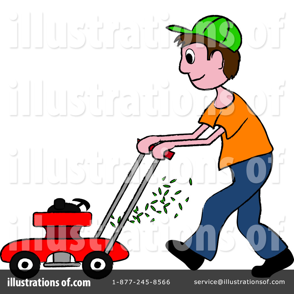 Lawn Mowing Clipart #94206.