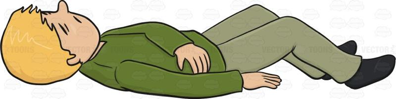 Man Lying Down Clipart.