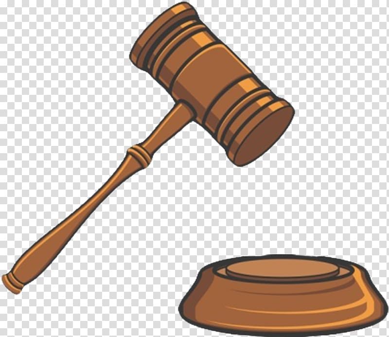 Trial Court Judge , Cartoon version of the auction hammer.