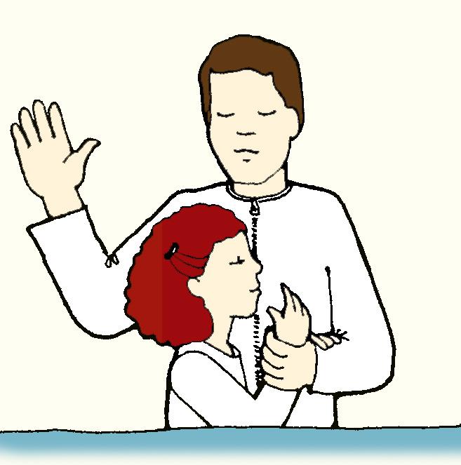 LDS Baptism Clip Art N2 free image.