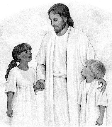 Jesus with the children, ldsclipart.com.