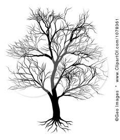 Heart wedding tree digital clipart, wedding invitation, guest book.