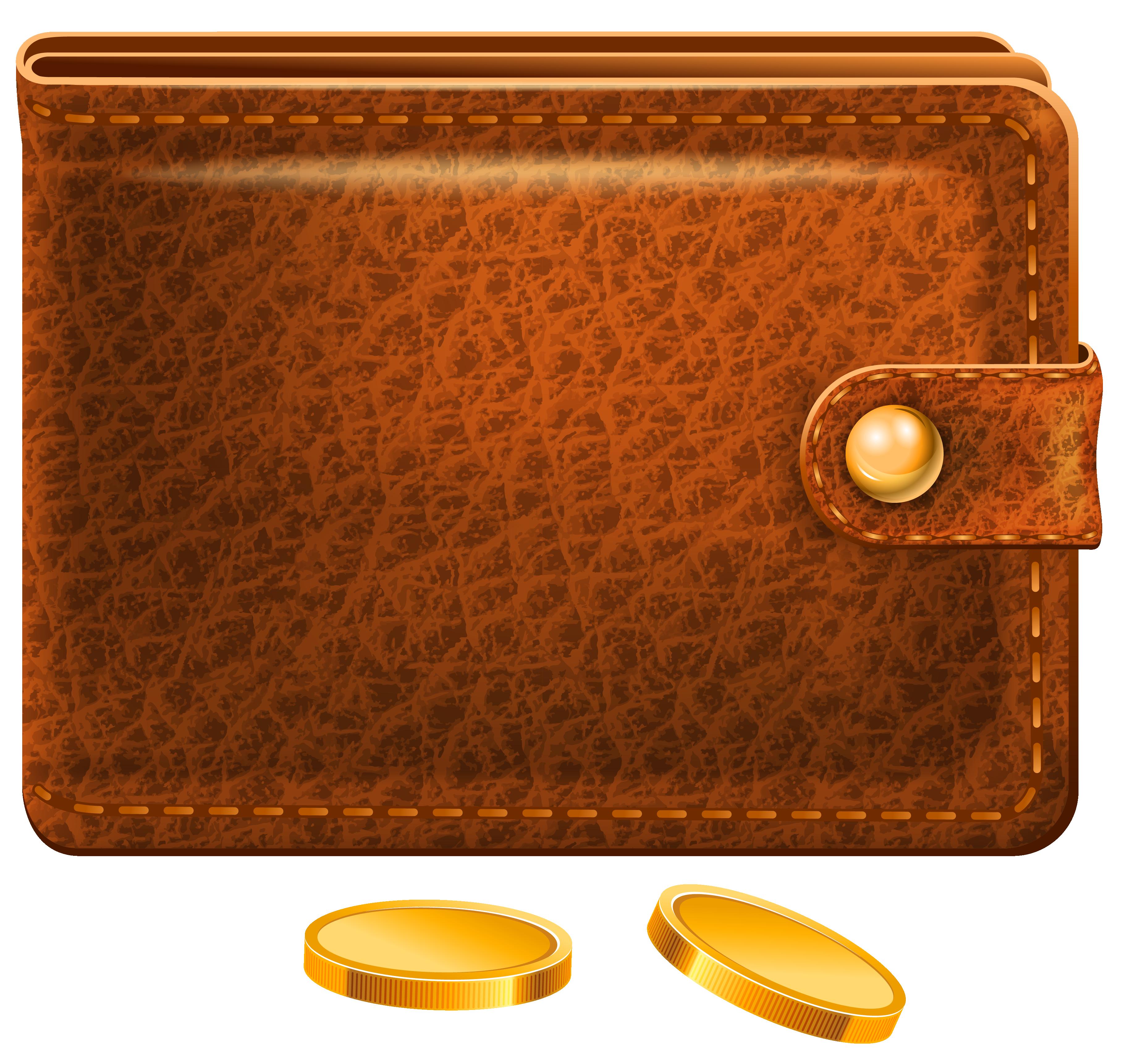 Wallet clipart leather wallet, Wallet leather wallet.