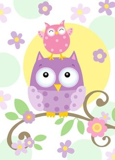Boy Owl Orange Green Blue Digital Clipart.