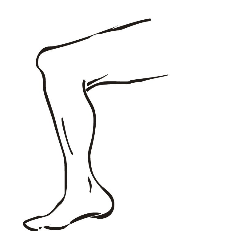 Leg Clipart Black And White.