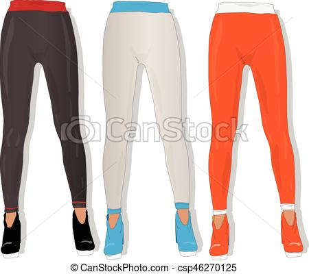 Woman leggings vector isolated..