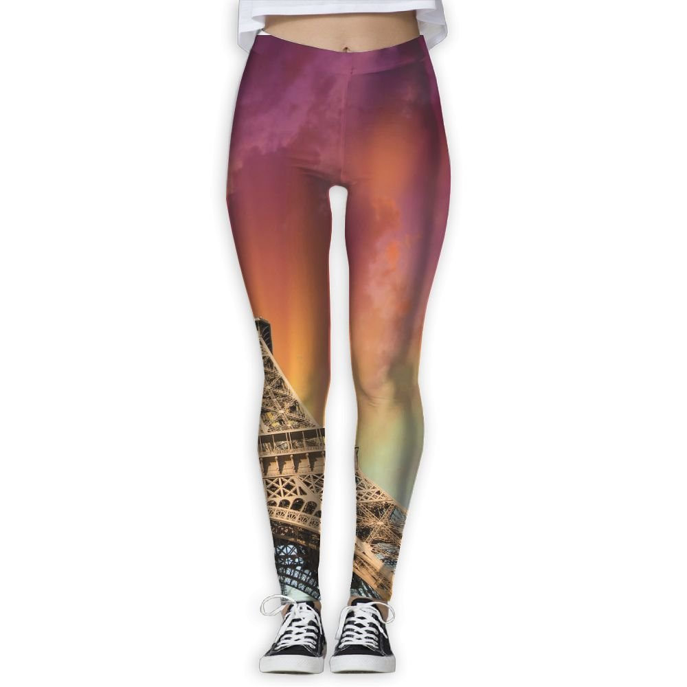 Amazon.com: Yoga Leggings Pants Eiffel Tower Clipart Arts Sport.