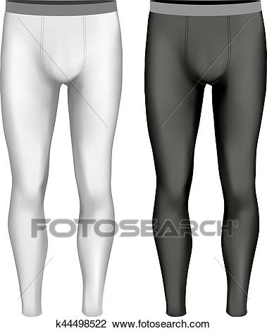 Black and white variants of leggings Clipart.