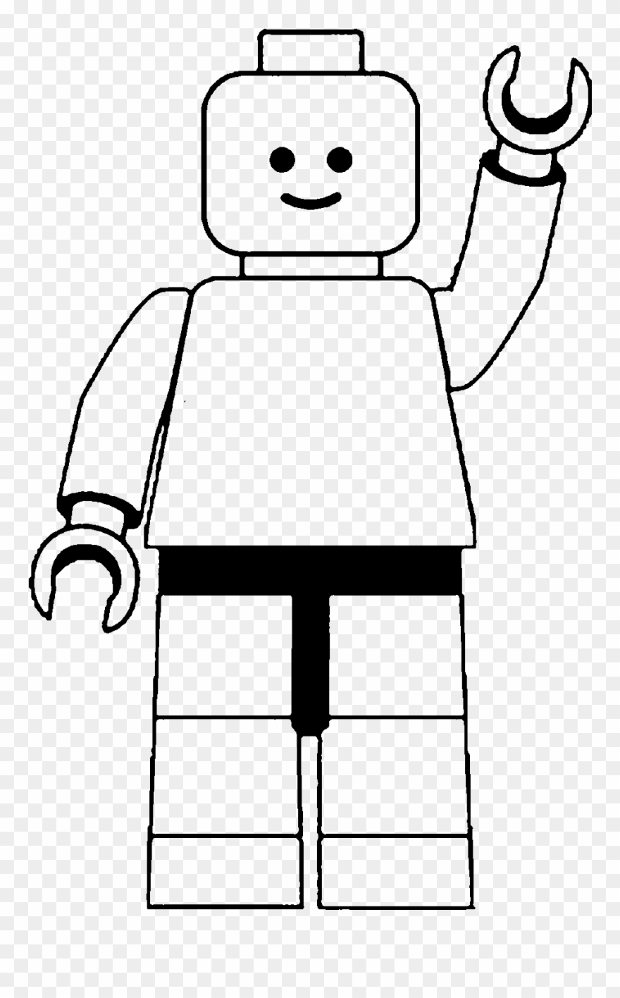 Lego Man Clip Art Black And White.