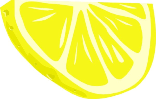 Lemon (half Slice) clip art Free vector in Open office.