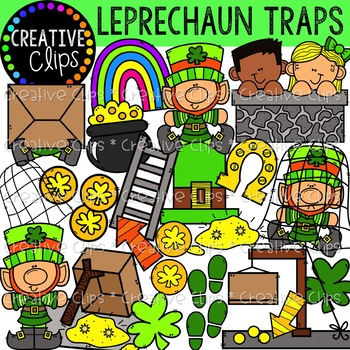 Leprechaun Traps {Creative Clips Clipart}.