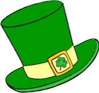 Patrick Top Hat Clip Art ., Leprechaun Hat Free Clipart.