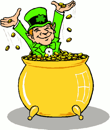 Celebrities Bollywood: leprechaun pot of gold clip art.