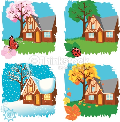Four Seasons Clipart vectoriel.