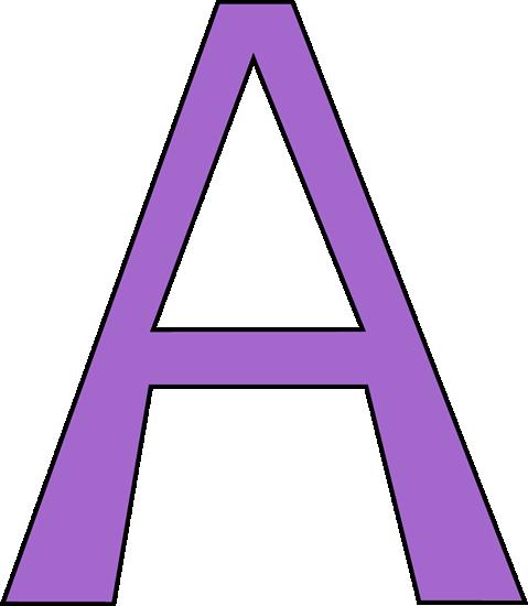 Purple Letter A.