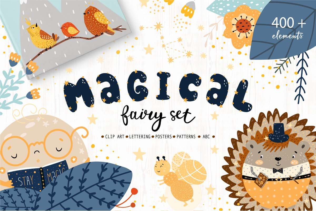Magical Fairy Set kids creator ~ Illustrations ~ Creative Market.