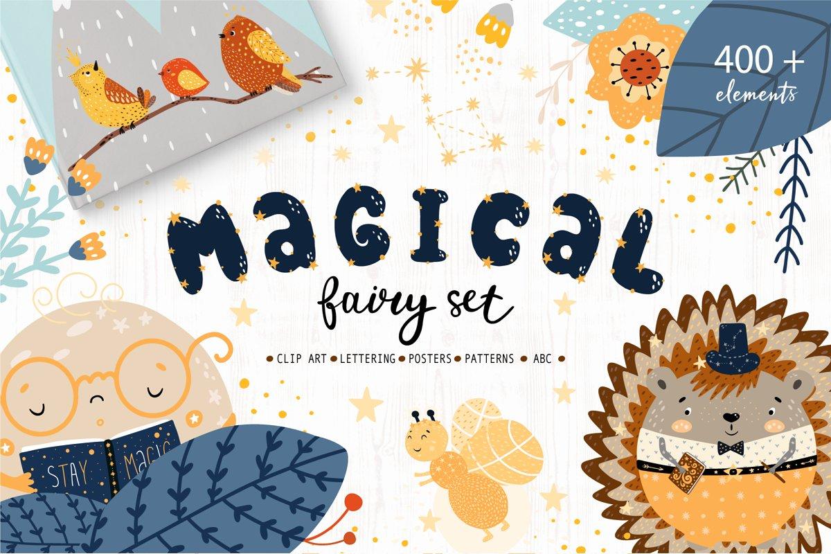 Magical Fairy Set kids creator ~ Illustrations ~ Creative Market.
