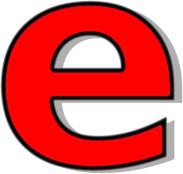 Lower Case E Clipart.