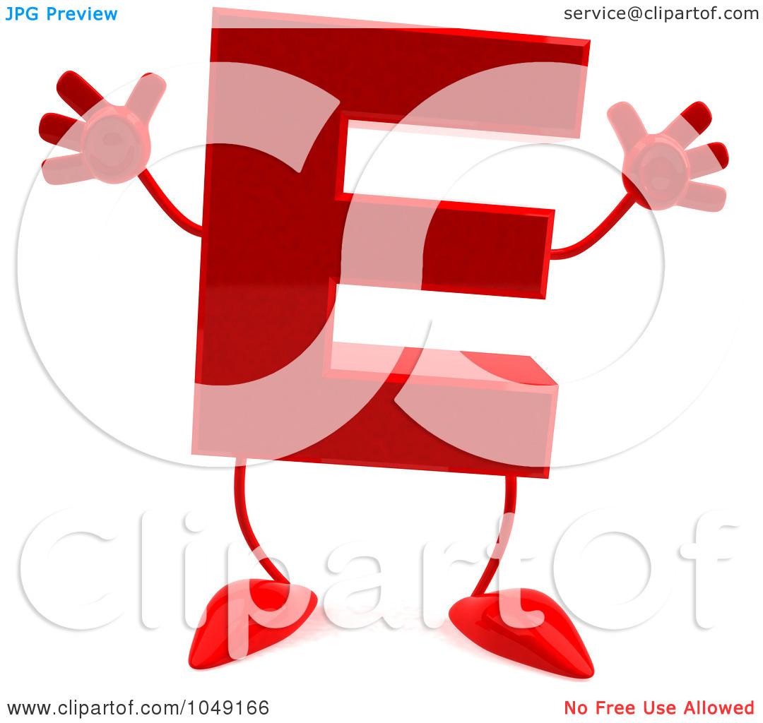 Clipart Letter E Red.