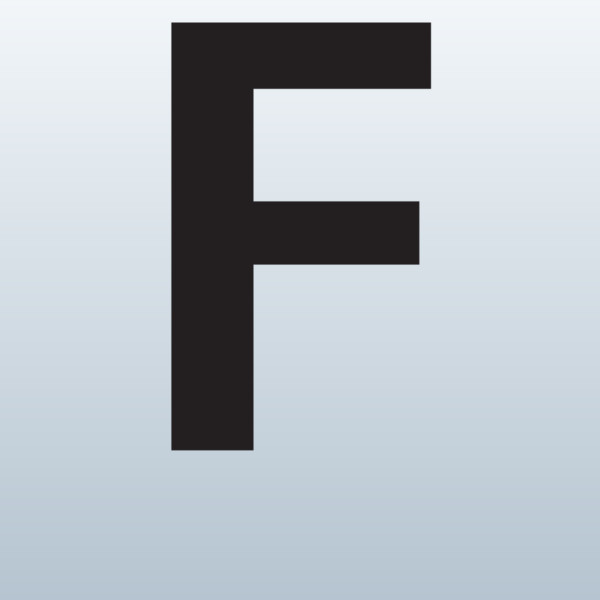 Letter F Clipart Printable 2218.