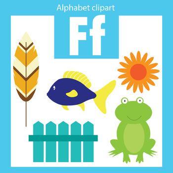 Alphabet clip art letter F Beginning sounds.