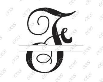 Monogram SVG Font.