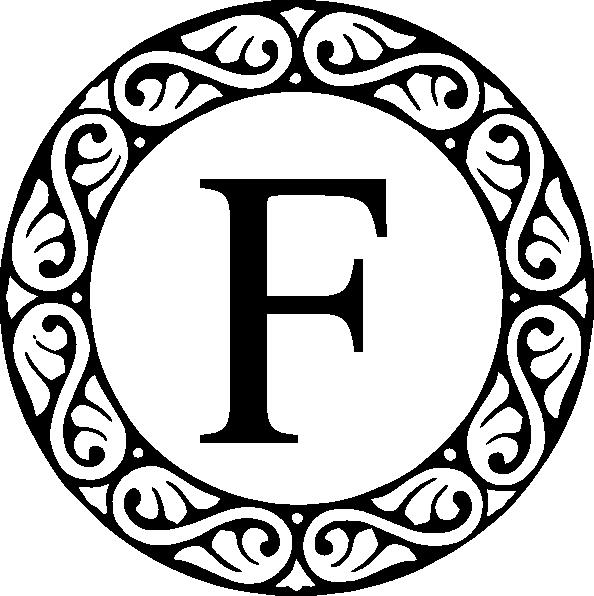 Letter F Monogram Clip Art at Clker.com.