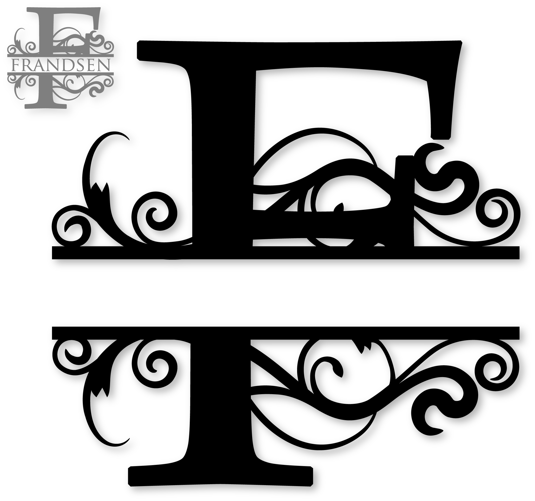 clipart letter f monogram - Clipground