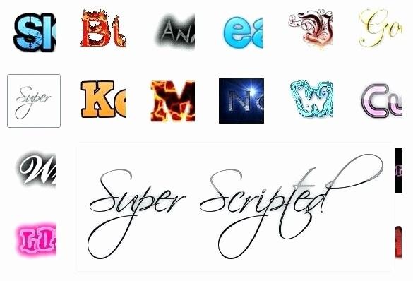 Calligraphy text generator online Elegant Cool Letter.