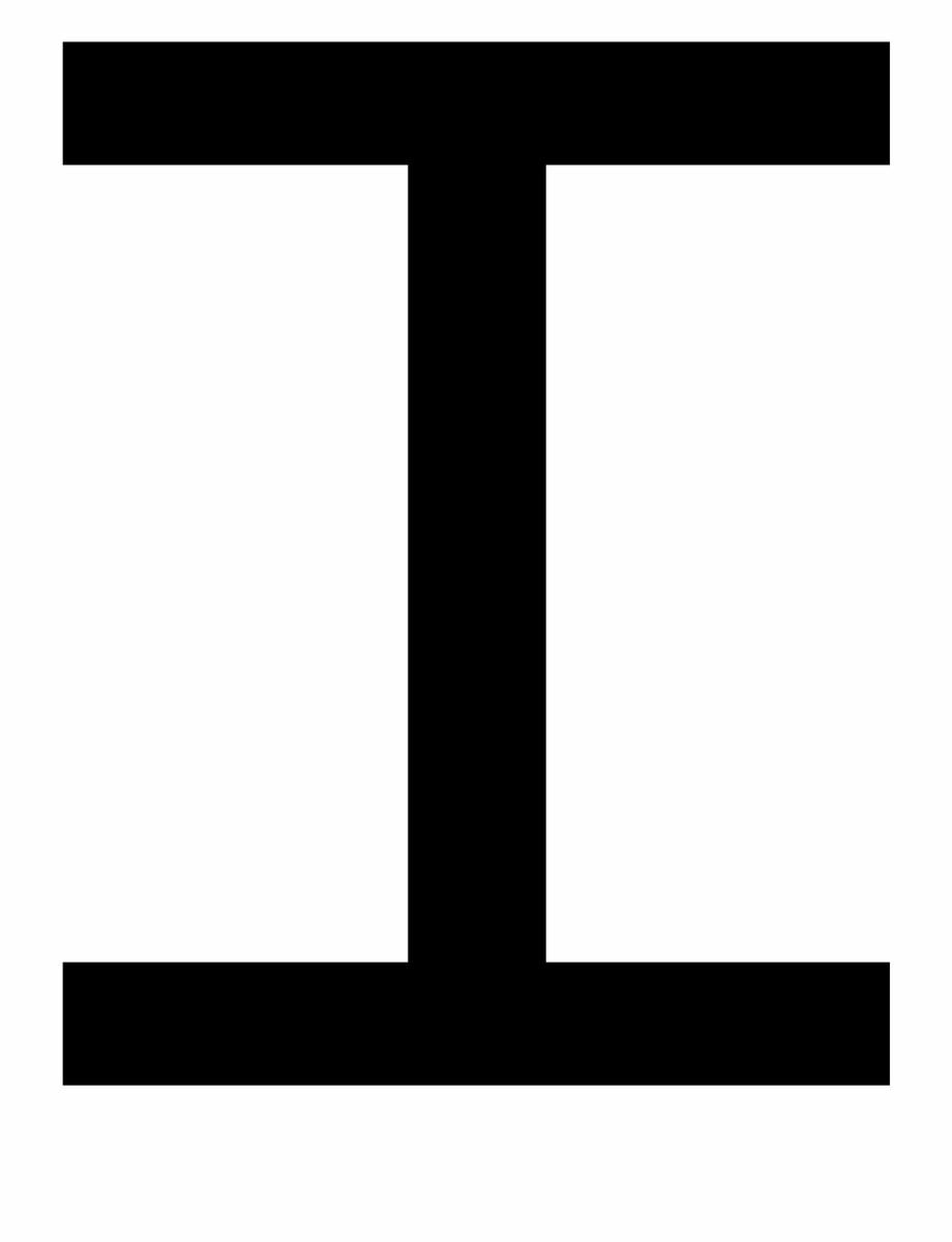 Capital Letter I.