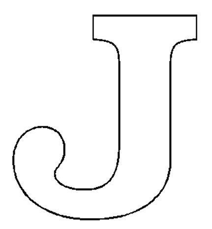 Letter Outline Clipart J.