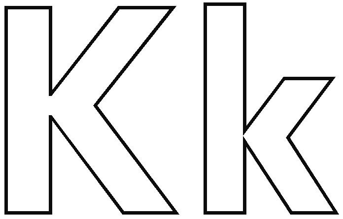 Letter K Clipart Black And White.