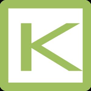K Letter Clipart.