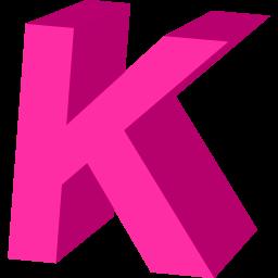 Letter K Icon.