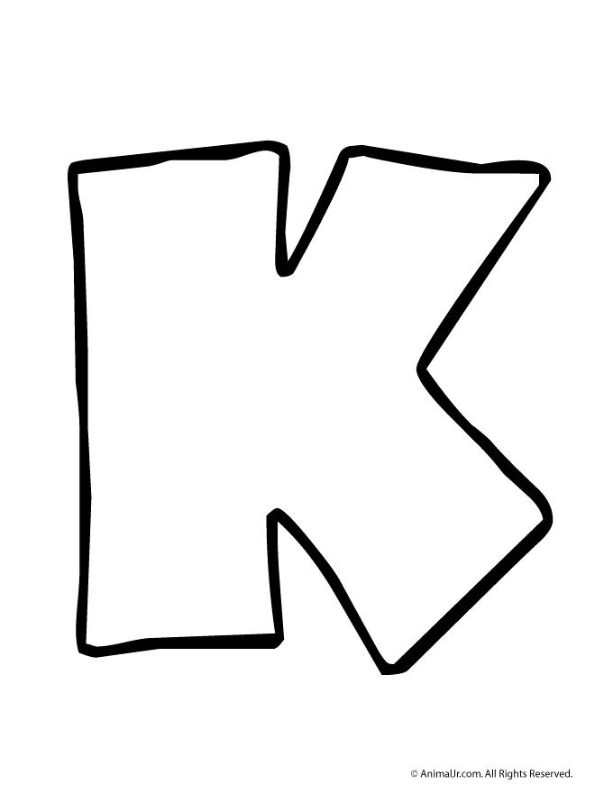 clipart letter k outline