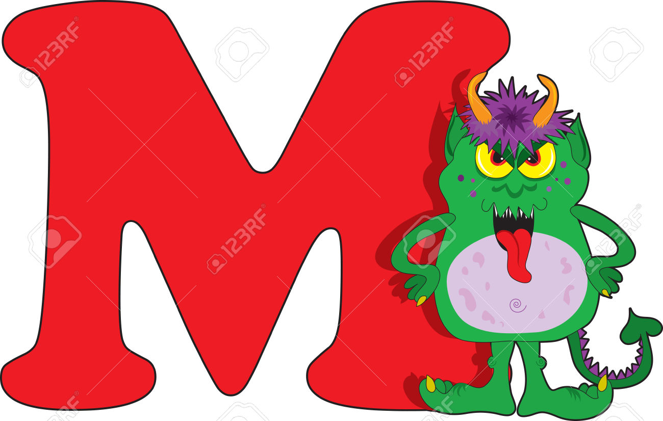 Clipart letter m clipground for S and m pictures