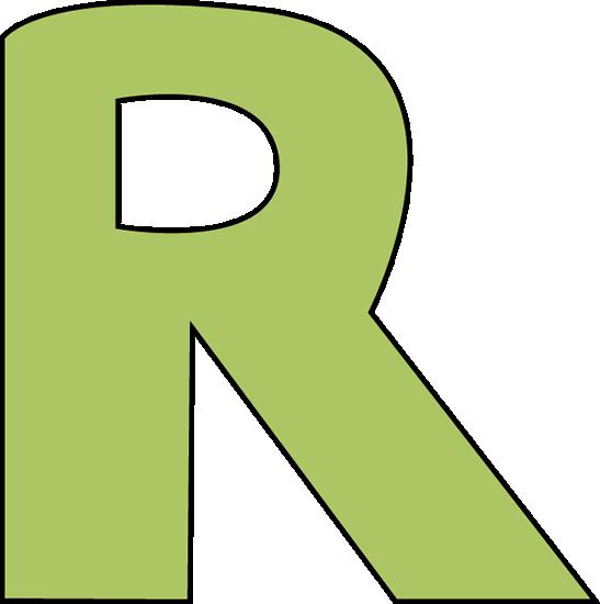 Green Letter R Clip Art.