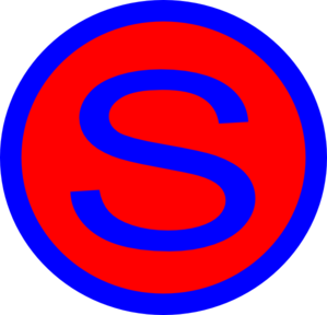 S Letter Red Clipart.