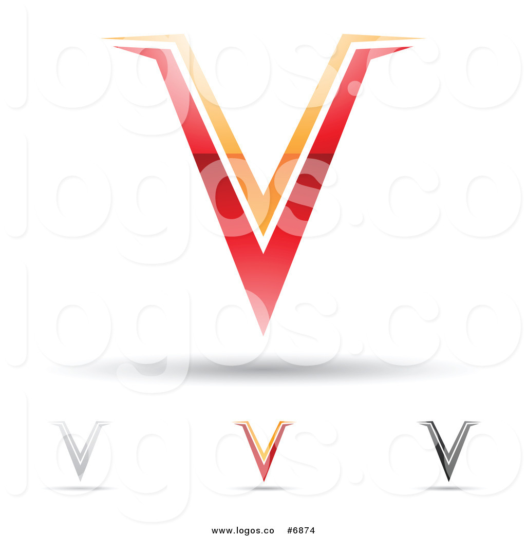 clipart letter v design black and white clipground