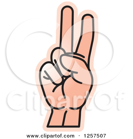 Clipart Letter V With Hands.
