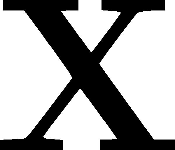 Cyrillic Letter X Clip Art at Clker.com.