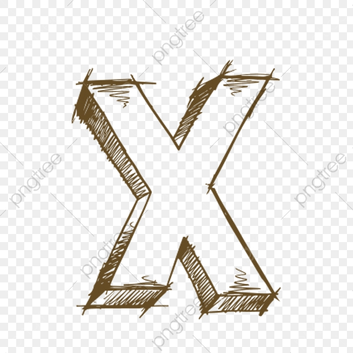 Hand Painted Letters X, Letter, X, Hand PNG Transparent Image and.