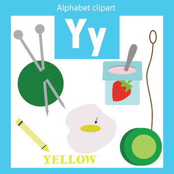 Alphabet clip art letter Y Beginning sounds.